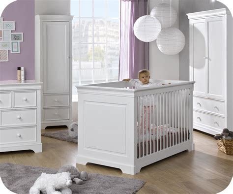 chambre de bebe complete chambre bébé complète mel blanche avec armoire 1 porte
