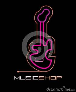 Music Shop Neon Sign Stock Vector Image