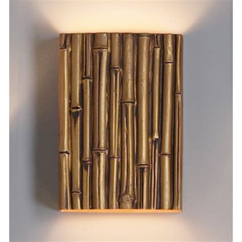 10 quot thin bamboo reed wall sconce gold finish faux