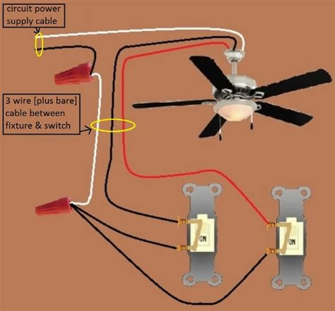ceiling fan light combo wiring diagram power fixture fan light combo switched separately wiring