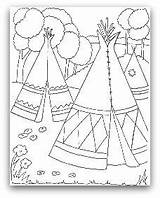 Teepee Coloring Indian Tipi Pages Tent Wigwam Drawing Indians Native American Tepee Printable Pee Tee Cherokee Template Homes Colouring Sheets sketch template
