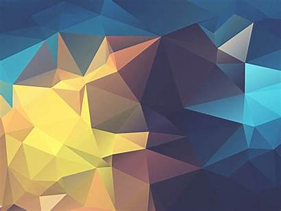 Poly Wallhaven Low Abstract Yellow Geometry Minimalism