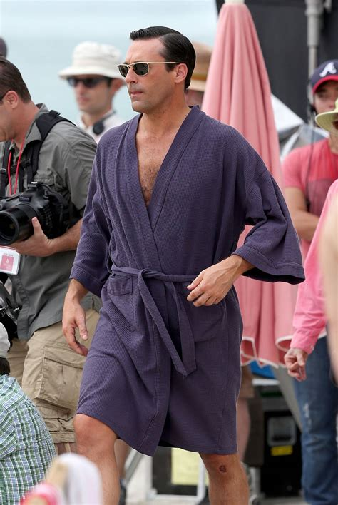 Knee Rug Burn by Jon Hamm In A Swimsuit Shooting Scenes For Mad Men