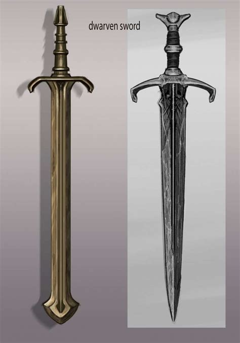 Dwemer Sword Concept Art From The Elder Scrolls V Skyrim