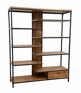 étagère Bibliothèque Bois : etag re bois et fer industrielle ~ Teatrodelosmanantiales.com Idées de Décoration