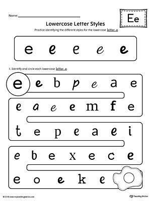lowercase letter e styles worksheet kindergarten printable worksheets printable worksheets