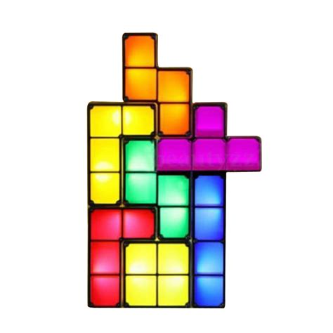 Tetris Stackable Led Desk L India by New Arrival Tetris Puzzle Light Led Constructible B Lock