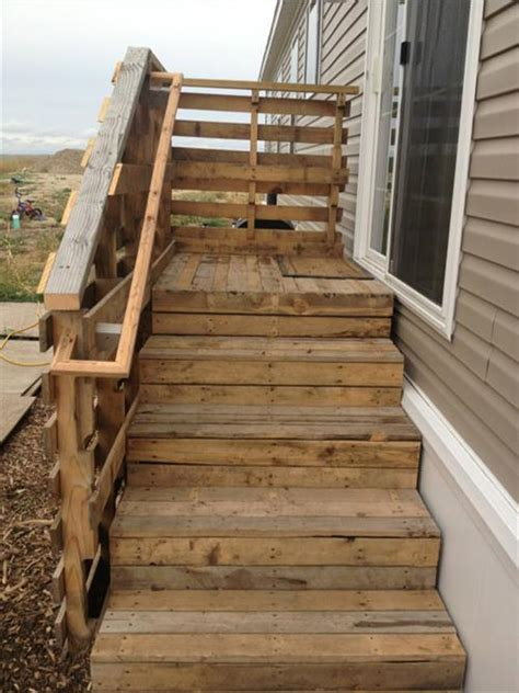pallet wood stairs ideas pallets designs