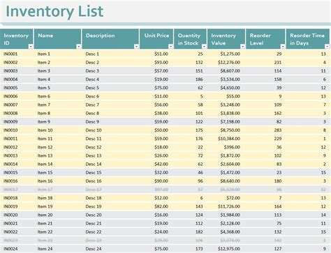 excel inventory template inventory templates free inventory templates