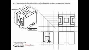 Engineering Drawing Tutorials  Orthographic And Sectional Views   T 11 2