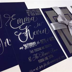 for any queries at all please contact mikamadebymikacouk With navy and silver wedding invitations uk