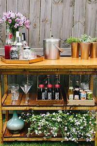 outdoor bar cart DIY Indoor/Outdoor Bart Cart Table