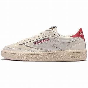 reebok club c 85 ll chalk leather vintage classic women casual shoes bs7033  ebay 766bd299a