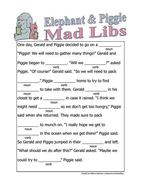 mad libs  middle school  heavenlybellsorg