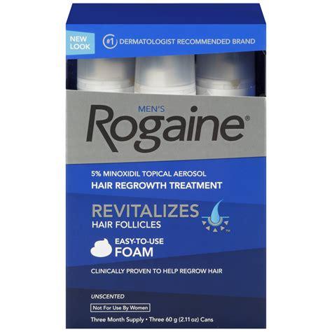 Rogaine Men's Hair Regrowth Treatment, Unscented Foam, 3