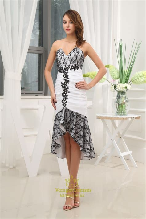 beautiful black and white dresses for wedding guests
