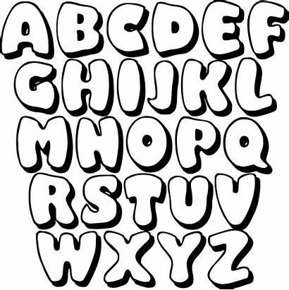 Bubble Letters Printable Letter Stencils Printablee Via