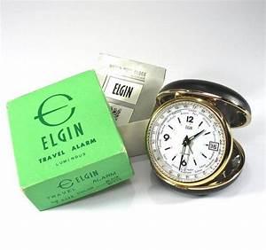 Elgin World Time Clock  Travel  Original Box  Instructions