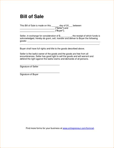 Bill Of Sale Template Word 8 Bill Of Sale Word Template Authorizationletters Org
