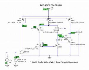 Two Stage Operational Transconductance Amplifier Design