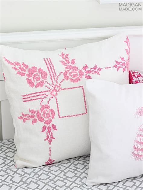 diy vintage inspired pillows rosyscription