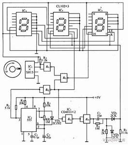 digital tachometer circuit based on the magnetic sensor With tachometer circuit