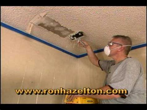 remove  popcorn ceiling youtube