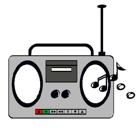 dibujo de una radio para pintar imagui
