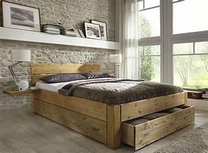 Holzbett Mit Schubladen : bett mit schubladen aus massivholz kieferm bel als einzelbett doppelbett teilweise auch ohne ~ Sanjose-hotels-ca.com Haus und Dekorationen