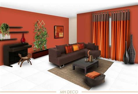Living Room Decor With Orange Walls by Decoration Orange Wall Paint Color Schemes Living Room