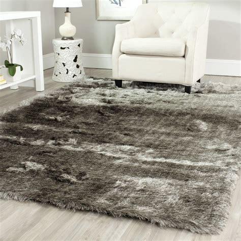 silken shag rug silken silver shag rug contemporary rugs by