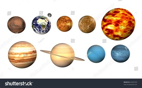 Planets On White Background Stock Illustration 64439185 ...