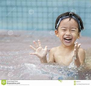 Happy Kid In The Water Royalty Free Stock Photography ...