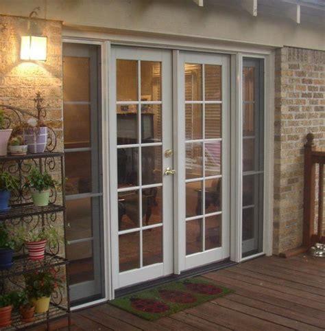 classic clad french door  operating sidelites