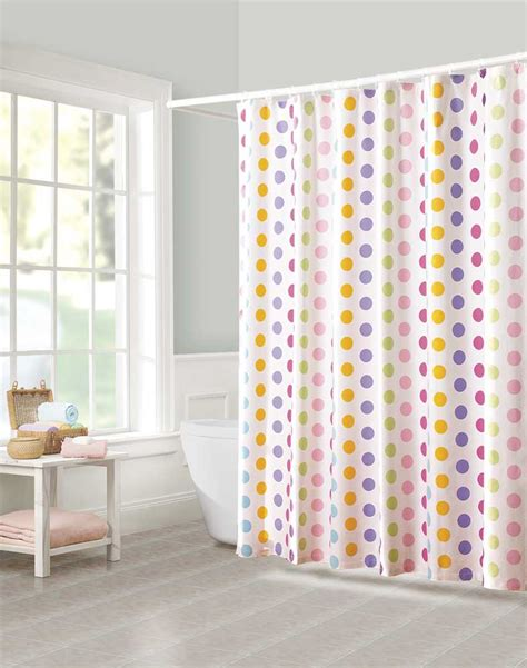 polka dot shower curtain home remodeling and renovation