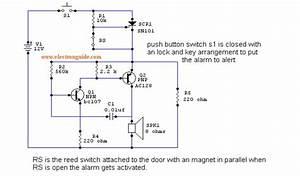 Intruder Alarm Circuit Diagram