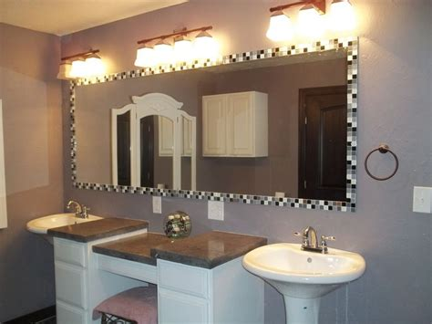 How To Put A Frame Around A Bathroom Mirror by 25 Best Ideas About Tile Mirror Frames On
