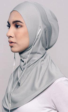 najwaa sport fit hijab  grey hijabi fashions     turban hijab hijab fashion