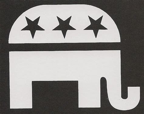 republican elephant sticker gop freedom liberty trust god