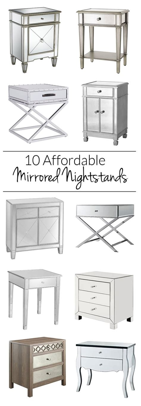 Mirrored Nightstands Cheap by Mirrored Nightstands 10 Cheap Options Polished Habitat
