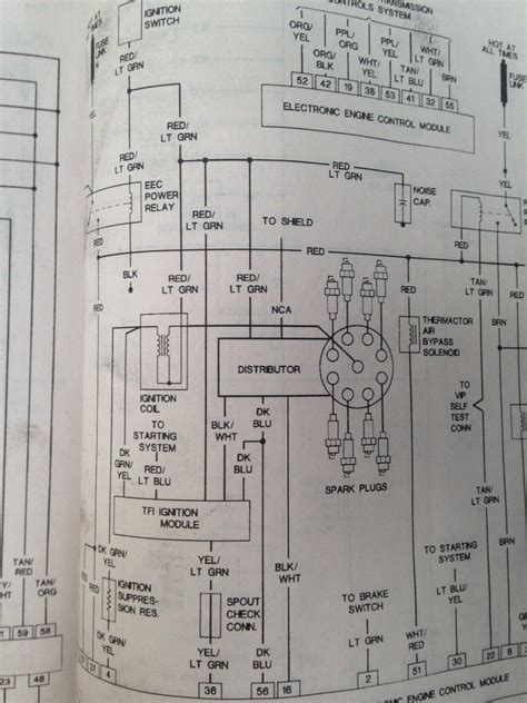 1990 Ford F 250 5 0 Fuse Diagram by Weak Spark No Power Up Coil Ford Truck
