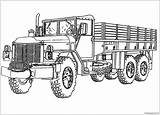 Coloring Truck Printable Semi Army Tanker Trucks Monster Colouring Sheets Police Printables Boys Procoloring Template sketch template