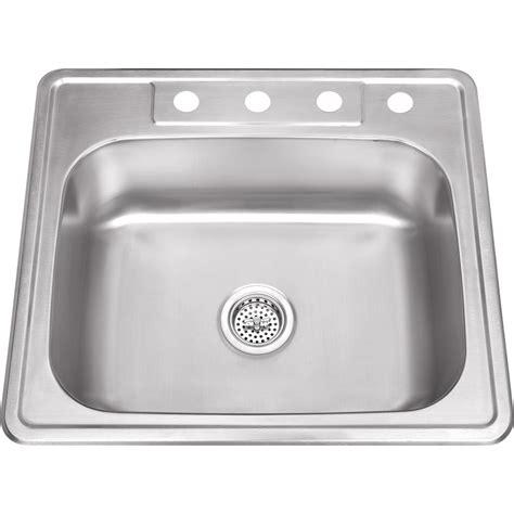 Ipt Stainless Steel Sinks by Ipt Sink Company Drop In 25 In Stainless Steel Single