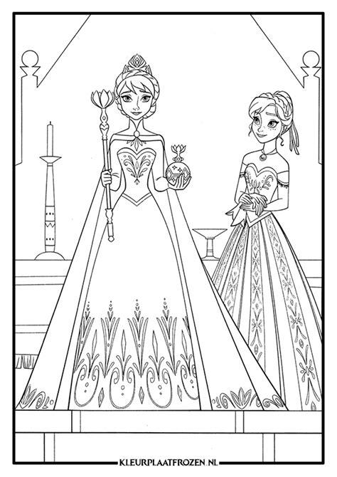 Kleurplaat Elsa Verjaardag by Kleurplaten Prinses Elsa