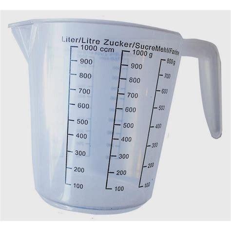 ustensiles de cuisine discount 1 verre doseur bol gradué 1 l pvc 18 x 14 cm usten achat