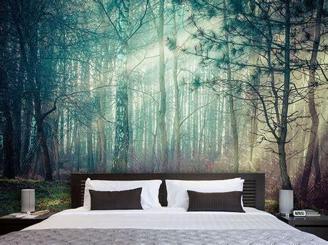fototapete wald schlafzimmer die besten 25 fototapete ideen auf fotomotive wald tapete und betten