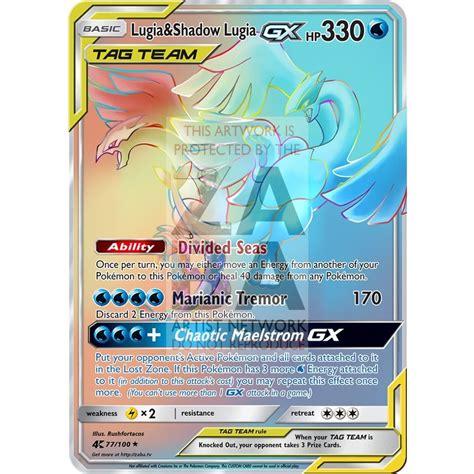 It does 1000 damage and has 300 hp. Lugia & Shadow Lugia GX Custom Pokemon Card - ZabaTV
