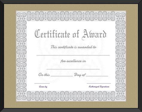formal certificate template  word