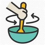 Mix Stir Bowl Icon Spatula Cooking Icons