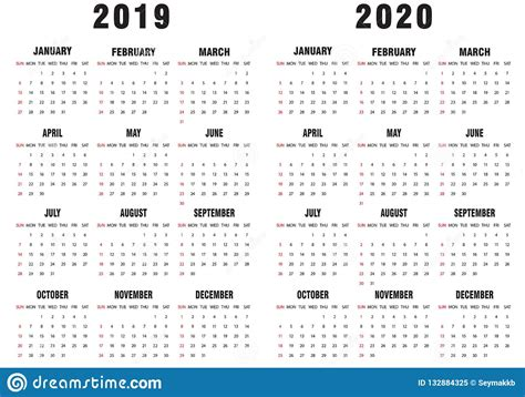 calendar black white stock vector illustration
